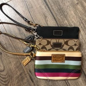 COACH Small Wristlets - 3 PACK